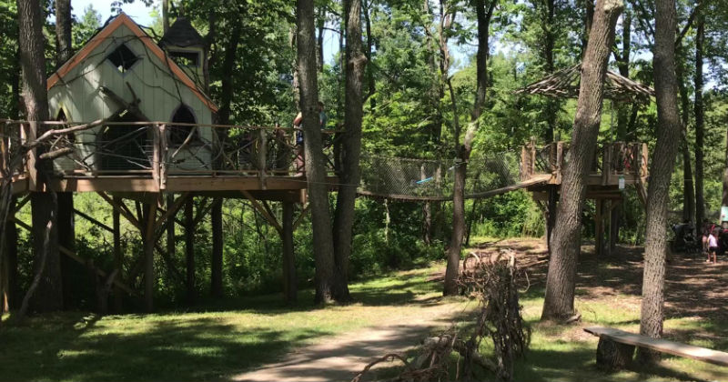 Nature Playground with Tree Houses Beech Creek Gardens