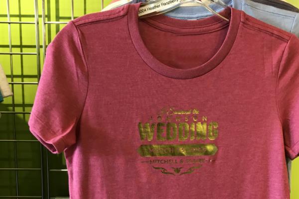 050b9c9e3 Custom Wedding T-Shirt Big Frog Solon Ohio
