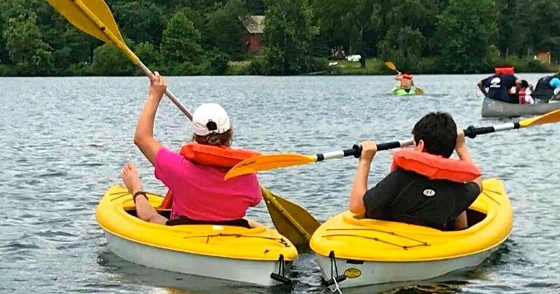 Water Activities at Camp Roosevelt Firebird Summer Camp Ohio