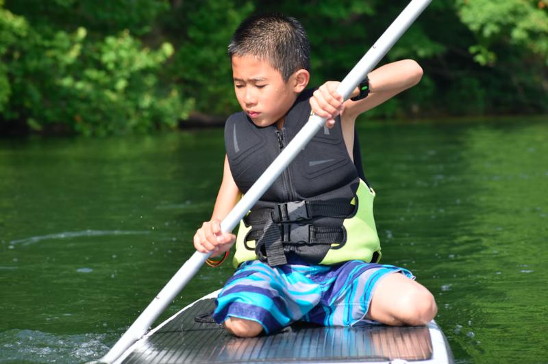 Paddleboard fun at Camp Roosevelt Firebird Ohio