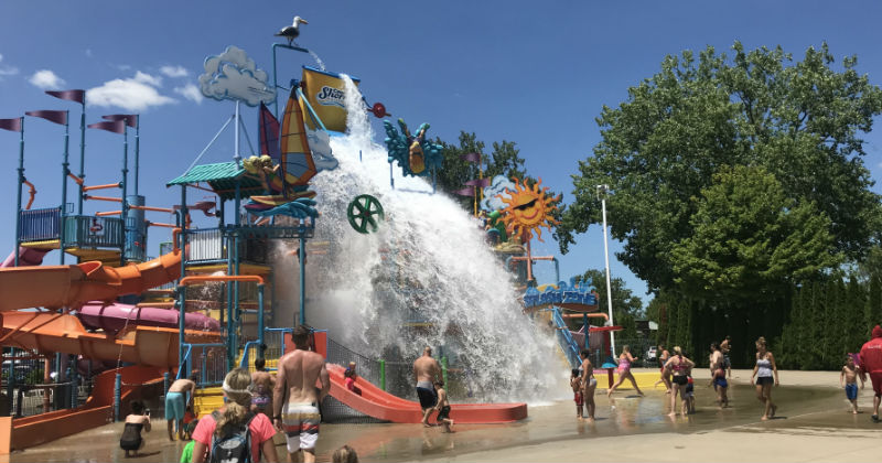 Cedar Point Shores Water Park Interactive Water Playground