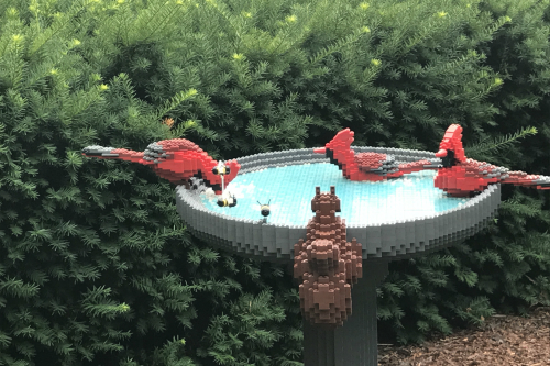 Bird Bath made out of LEGO bricks