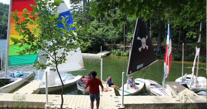 Sailing at Summer Camp Ohio Falcon Camp