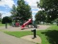 Paved Walking Path around the Playground at Hubbard Valley Park in Medina Ohio
