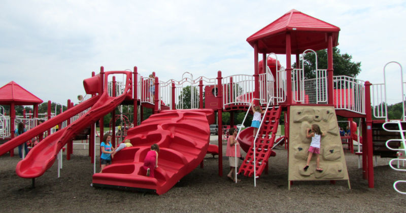 Large Play Area at KidsStation Playground Stow Ohio