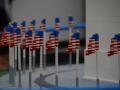 Lego Flags at the base of the Washington Monument