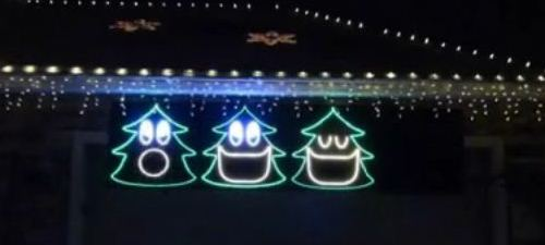 singing christmas trees - Christmas Lights Synchronized To Music