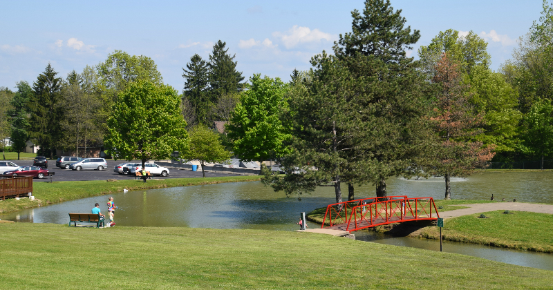 Lake at North Royalton Memorial Park