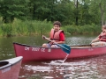 Learning to Canoe at Summer Camp Ohio Red Oak