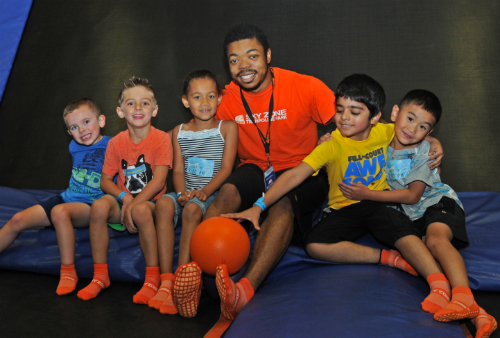 Sky Zone Ohio Bday Party Hanging Out