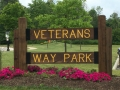 Entrance Sign at Veterans Way Park