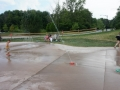 Playing at Hudson Splash Pad
