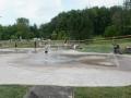 Splash pad at Veterans Way Park Hudson Ohio