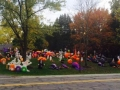 Halloween Inflatables at House in Walton Hills Ohio