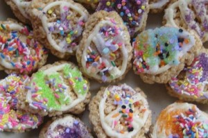 Rice Krispy Easter Egg Cookies