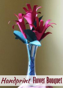 Handprint flower bouquet perfect for mothers day handprint flower bouquet perfect for mothers day mightylinksfo