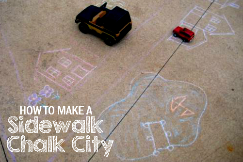 Use Sidewalk Chalk to Create a City on your Driveway