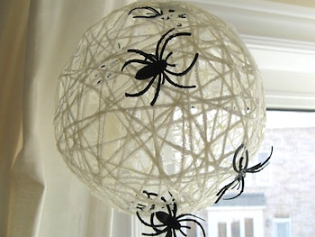 Halloween Orb Spider Web Craft