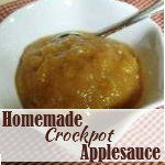 Simple Homemade Crockpot Applesauce Recipe