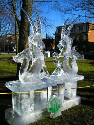Medina Ice Festival Sculpture