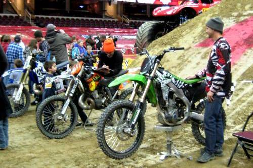 Motorcross Bikes at Monster Jam Pit Party