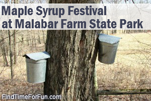 Malabar farm state park maple syrup festival