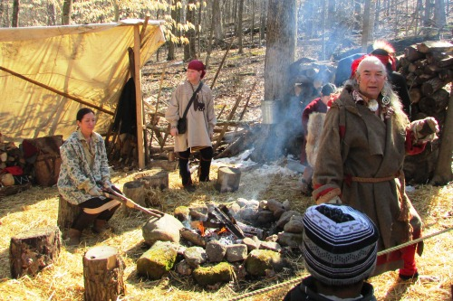 Native American Indian Maple Syrup Camp