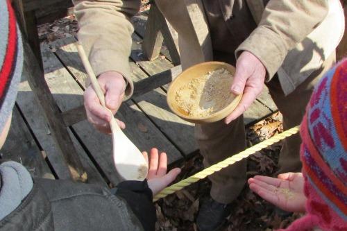 Sampling Freshly Made Maple Sugar
