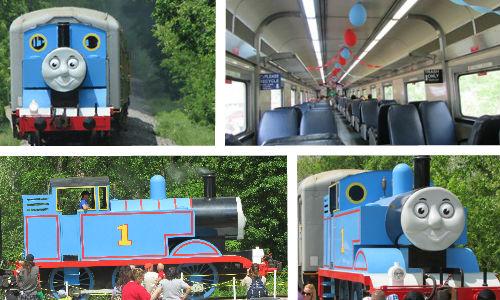 Riding on Thomas the Train