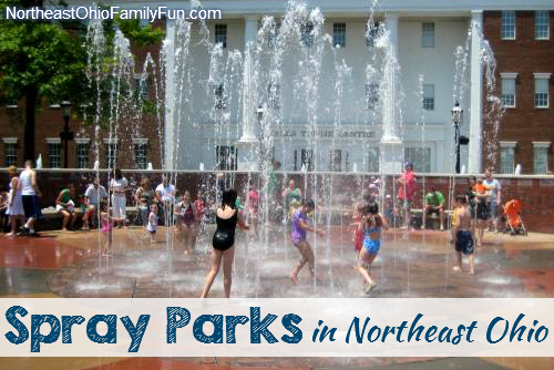 Spray parks in Northeast Ohio
