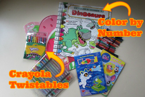 Traveling with Kids - Coloring Supplies
