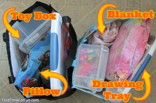 Traveling with Kids - Individual Travel Bags