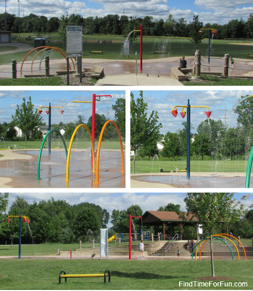 Splash Pad at Fred Greenwood Park Medina Ohio