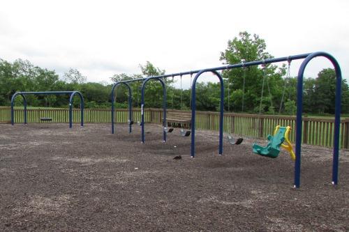 Swingsets at Metgzer Park Louisville Ohio
