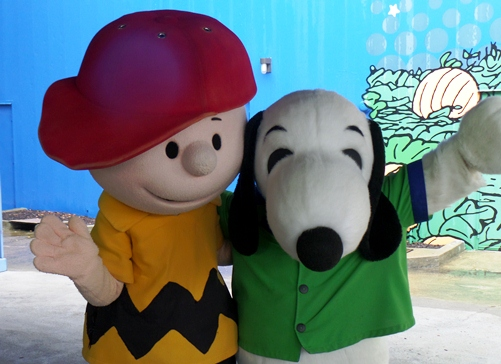 Charlie Brown and Snoopy at Planet Snoopy