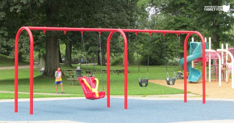 Silver Springs Park in Stow SOAR Swings