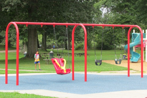 Swings at SOAR Playground Stow Ohio