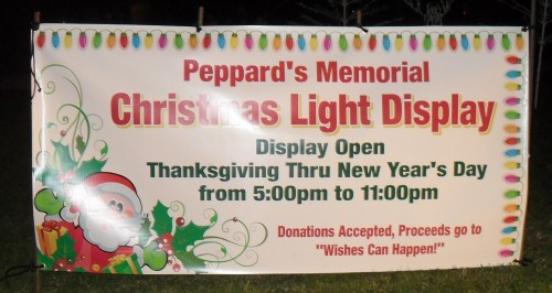 Peppards Memorial Light Display