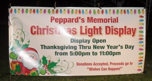 Peppards Memorial Light Display