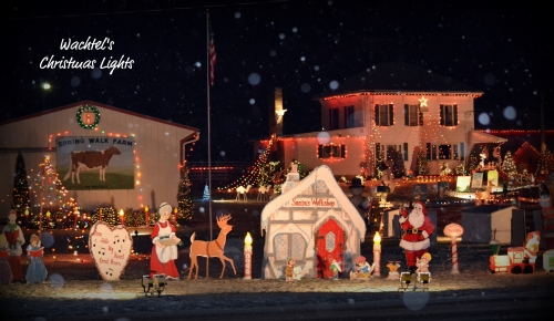 Watchel Christmas Light Display Holmes County Ohio