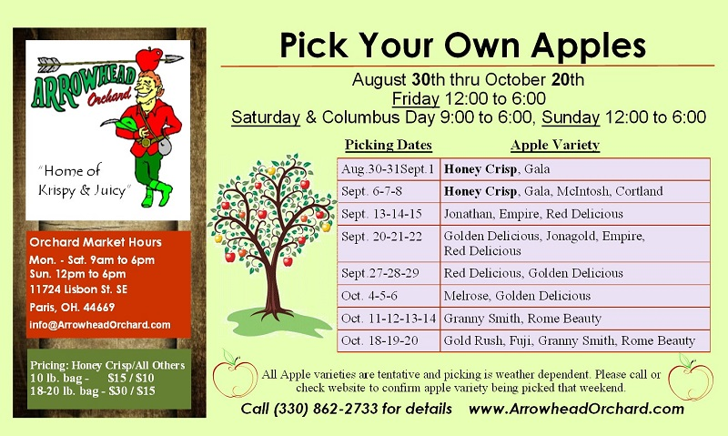 2019 Apple Picking Arrowhead Orchards