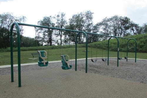 Swings at Schneider Community Park Plain Township Ohio