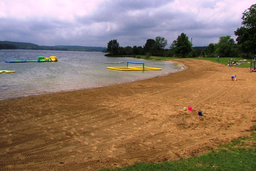 The Beach at Atwood Lake in Mineral City Ohio