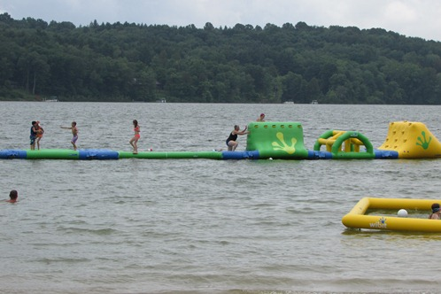 Water Obstacle Course at Atwood Lake Park