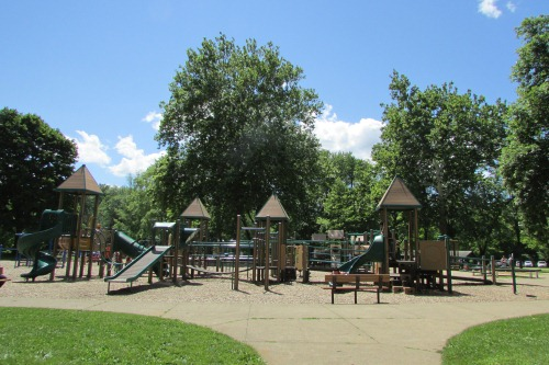 Large Playground at Water Works Park in Cuyahoga Falls