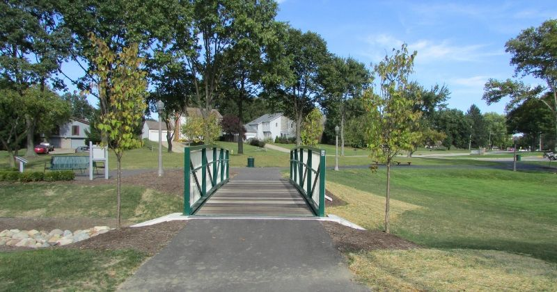 Paved Walking Path at Croghan Park Fairlawn Ohio