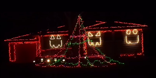 Halloween Display Austintown Ohio