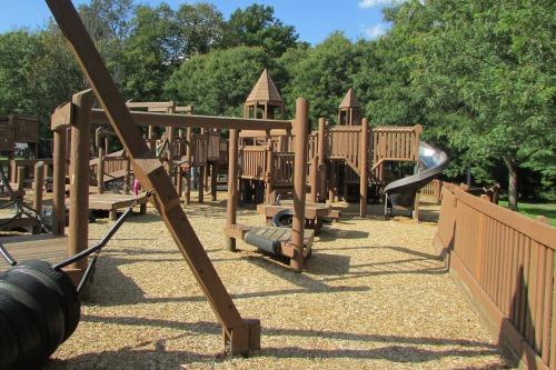Wooden Playground in Medina Ohio