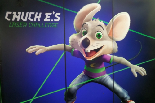 Laser Challenge at Chuck E Cheese