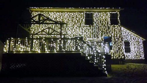 tribute to national lampoons christmas light display ohio